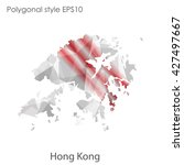 hong kong map in geometric... | Shutterstock .eps vector #427497667
