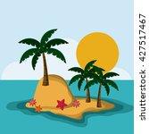 beach design. summer icon.... | Shutterstock .eps vector #427517467