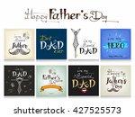 set of greeting cards design... | Shutterstock .eps vector #427525573
