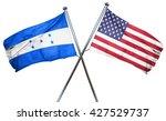 honduras flag with american...   Shutterstock . vector #427529737