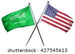 saudi arabia flag with american ...   Shutterstock . vector #427545613