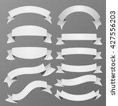 vector set of ribbons. | Shutterstock .eps vector #427556203