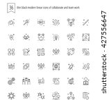 trendy web and apps line icons... | Shutterstock .eps vector #427556647
