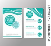 flyer headline design. paper... | Shutterstock .eps vector #427561297