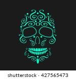 Skull Vector Background For...