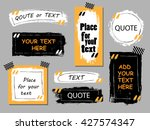 vector quote  collection. hand... | Shutterstock .eps vector #427574347