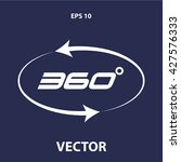 angle 360 degrees icon. angle... | Shutterstock .eps vector #427576333