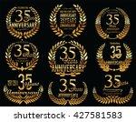 anniversary golden laurel... | Shutterstock .eps vector #427581583