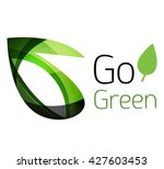 abstract eco leaves logo design ... | Shutterstock .eps vector #427603453