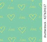 a heart.  print fabric. | Shutterstock .eps vector #427624117