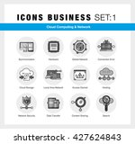 bright flat line icons set of... | Shutterstock .eps vector #427624843