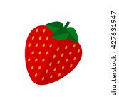 strawberry fruit icon.... | Shutterstock .eps vector #427631947