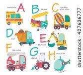 vector alphabet transport in... | Shutterstock .eps vector #427636777
