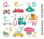 vector alphabet transport in... | Shutterstock .eps vector #427636783