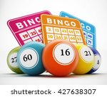 Bingo Balls And Cards With...
