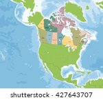 map of canada | Shutterstock .eps vector #427643707