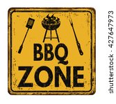 bbq barbecue zone vintage rusty ... | Shutterstock .eps vector #427647973