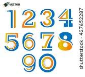 numbers 1 2 3 4 5 6 7 8 9 0... | Shutterstock .eps vector #427652287