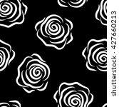 seamless pattern contour rose... | Shutterstock .eps vector #427660213