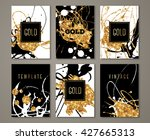 black  white and gold painted... | Shutterstock .eps vector #427665313