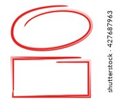 Red Circle And Red Frame