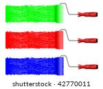 paint rollers in three colors... | Shutterstock . vector #42770011