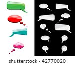 comic speech thinking bubbles | Shutterstock . vector #42770020