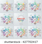 vector idea light bulb circle... | Shutterstock .eps vector #427702417