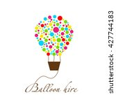 balloon hire logo rental of... | Shutterstock .eps vector #427744183