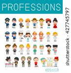 kids vector characters... | Shutterstock .eps vector #427745797