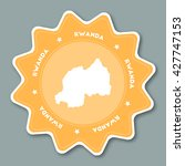 rwanda map sticker in trendy... | Shutterstock .eps vector #427747153