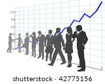 a team of business people in... | Shutterstock . vector #42775156