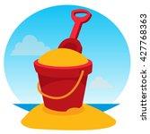 Children's Bucket With Sand An...