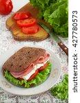 sandwich with ham  cheese ...   Shutterstock . vector #427780573