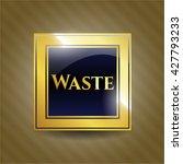waste gold badge | Shutterstock .eps vector #427793233