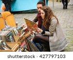 paris  france   april 23  2016  ... | Shutterstock . vector #427797103