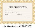 modern gift certificate. with... | Shutterstock .eps vector #427800307