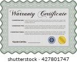 sample warranty certificate.... | Shutterstock .eps vector #427801747
