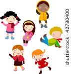group of children 2 | Shutterstock .eps vector #42780400