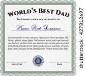 world's best father award... | Shutterstock .eps vector #427812697