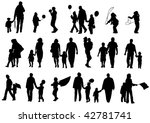 drawing of parents with... | Shutterstock . vector #42781741