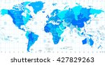 detailed world map standard... | Shutterstock .eps vector #427829263