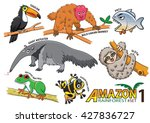 set of cute cartoon animals and ...