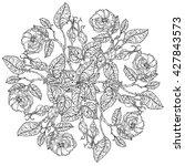 flowers in shape of mandala in... | Shutterstock .eps vector #427843573