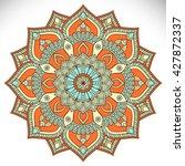 flower mandalas. vintage... | Shutterstock .eps vector #427872337