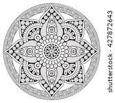 mandala  vector mandala  floral ...   Shutterstock .eps vector #427872643