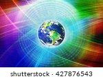graphical digital technology... | Shutterstock . vector #427876543