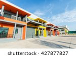 modern commercial building on a ... | Shutterstock . vector #427877827