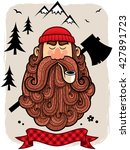 illustration of lumberjack. | Shutterstock .eps vector #427891723