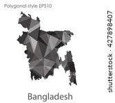bangladesh map in geometric... | Shutterstock .eps vector #427898407